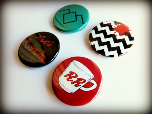 Twin Peaks Button Badge set by cherry and cinnamon
