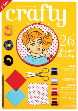 Crafty Magazine Issue 2 with pop art homage by Bridgeen