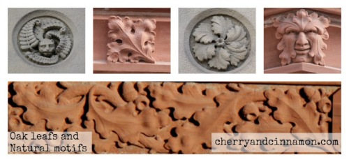 Oak leafs and natural motifs