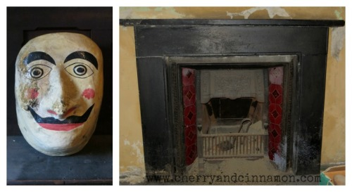 Fireplace and Lundy face