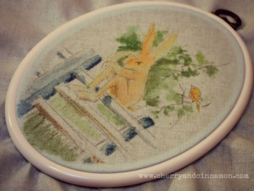 framed for stitching-Sendak illustration SAL