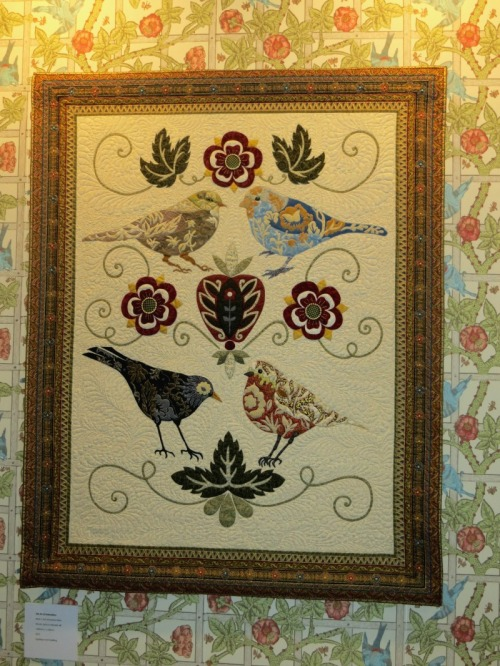 Nicola Jarvis hand embroidered quilt inspired by William and May Morris