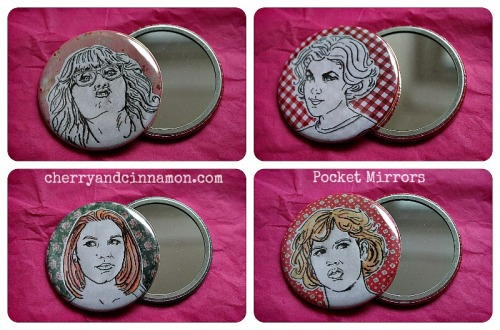 Cherry and cinnamon - pocket mirrors