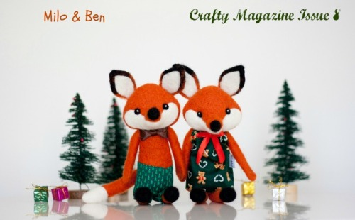 Milo&Ben cute foxes Crafty Mag