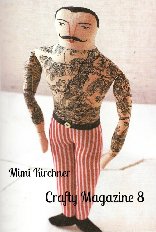 Tattooed strong man doll- Mimi Kirchner