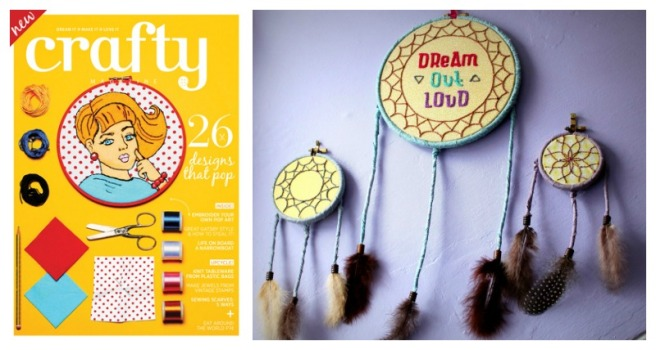 Crafty Magazine Cover art and favourite project