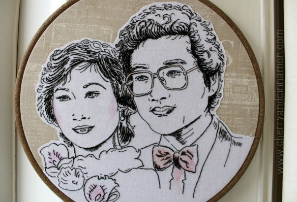 Embroidered Private Portrait commission