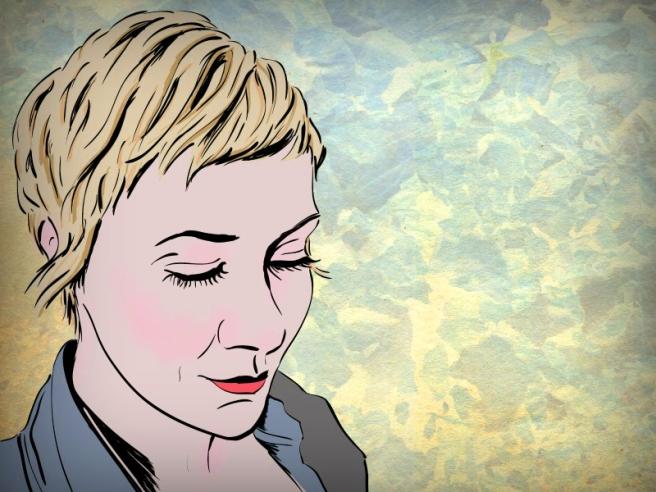 Bridgeen cherryandcinnamon- self portrait illustration pixie crop