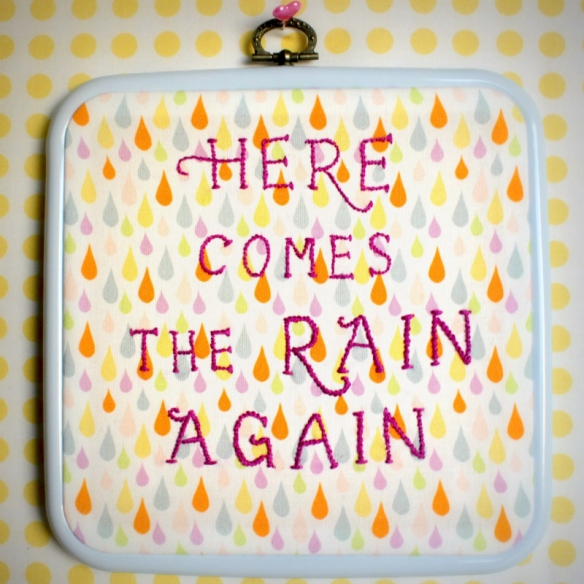 Stitched Lyrics- Here comes the rain again