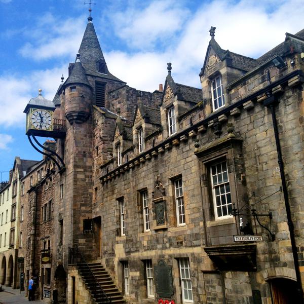 Quirky Edinburgh Clock tower