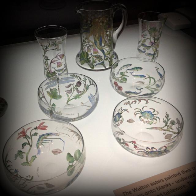 Walton Sisters Hand painted glasswear- glasgow-Kelvingrove