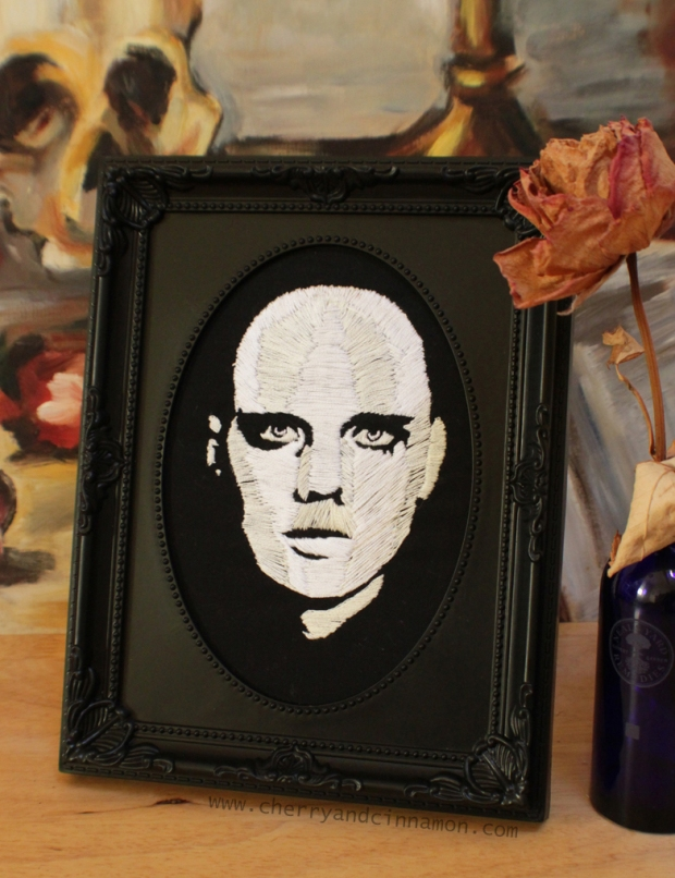 Adore- Billy Corgan textile portrait