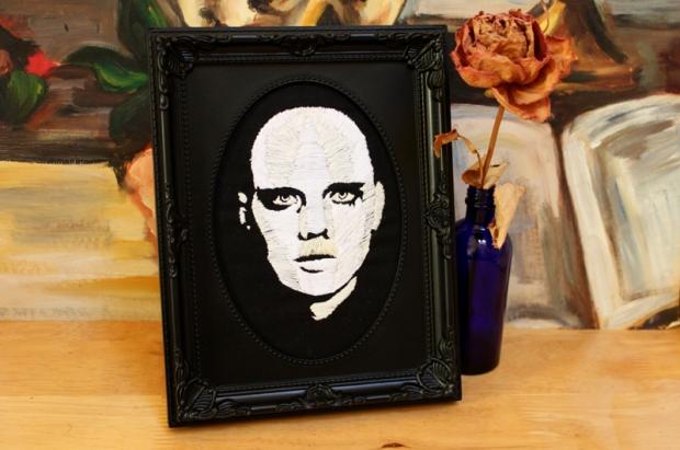 Adore- Billy Corgan- textile portrait