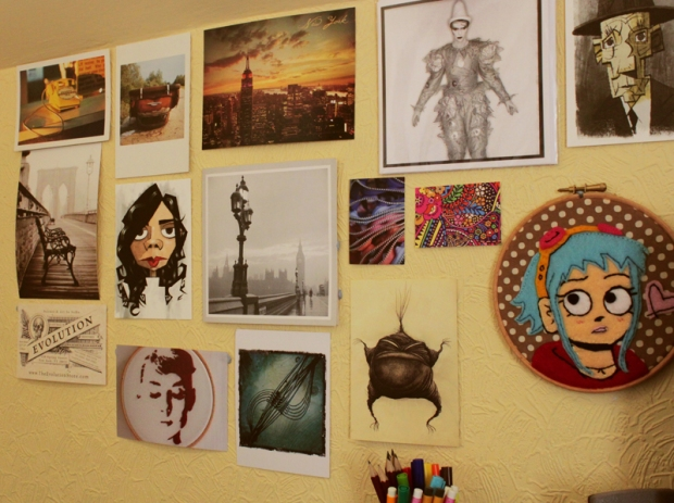 Postcards and wall art