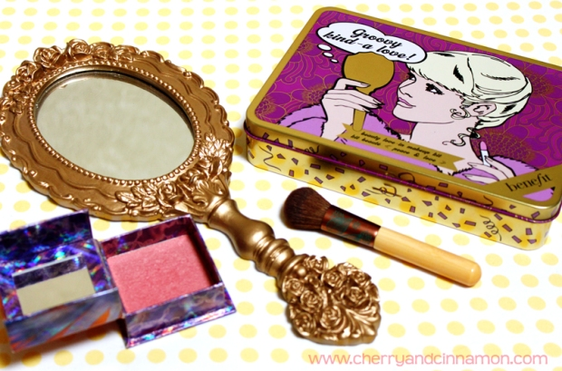 Benefit make-up tin and mirror
