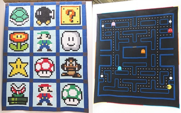 Classic Video Game quilts - FoQ 2014