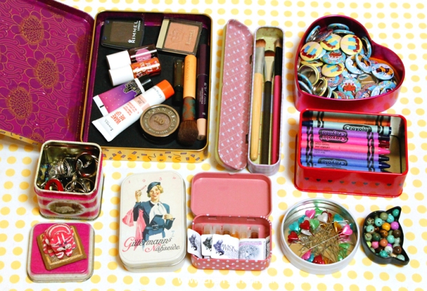 Pretty Tins- and their contents