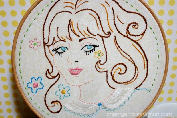 Summer of Love- 60s girl embroidery